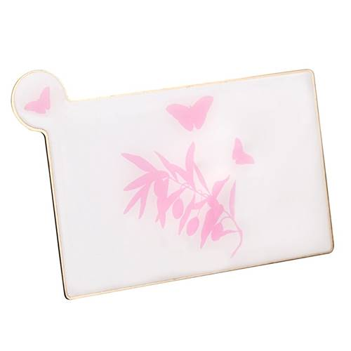 Miroir de Sac Rectangle Motif Papillon